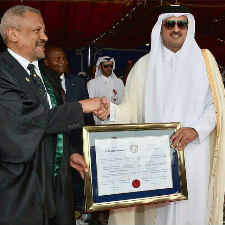 Al-Neelain University Awards HH Emir of Qatar Honorary Doctorate 